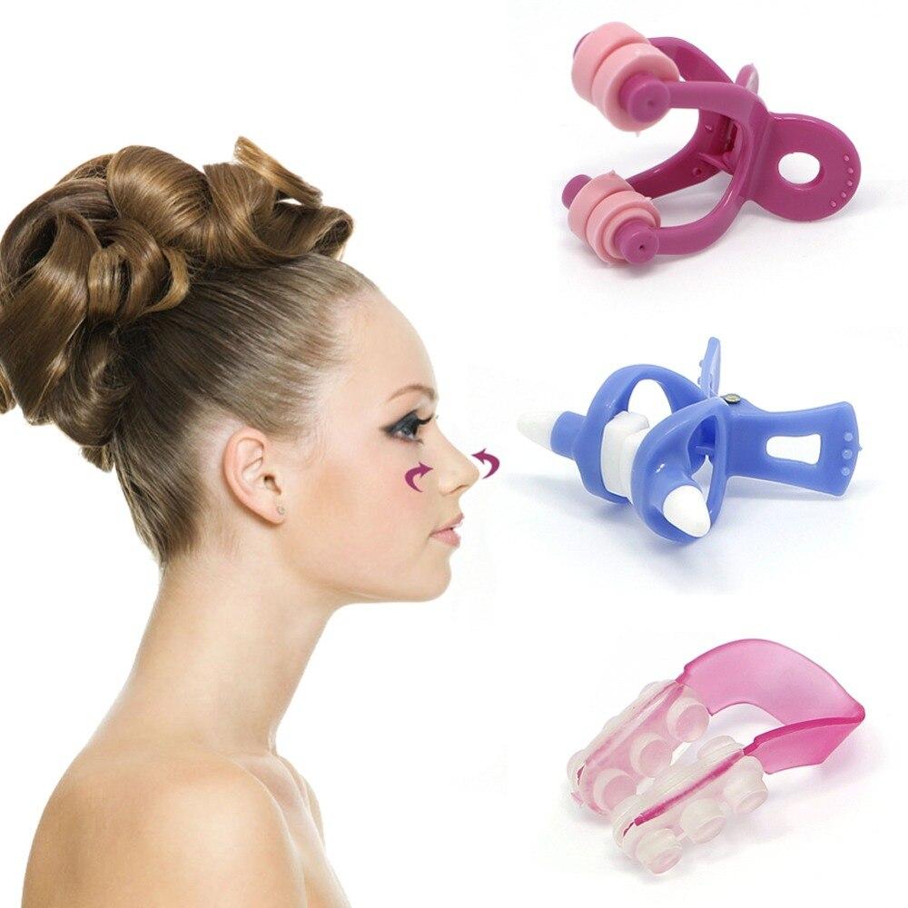 3Pcs Nose Up Beauty Clip Bridge Lifting Shaping Shaper Clipper Straightening Set  3pcs 3 175x15mm up