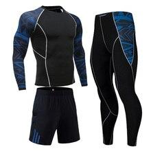 Спортивные комплекты Man Jogging Compression Одежда Quick Dry Спортивный костюм Тренировка Фитнес