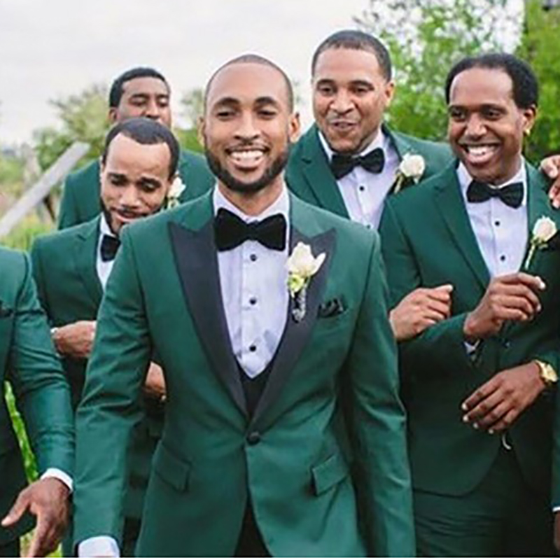 2009 Kostüme Grün Für Hochzeit Dünne Bräutigam Anzüge Hochzeit Anzüge Beste Mann Party Formale Blazer Männer Anzüge