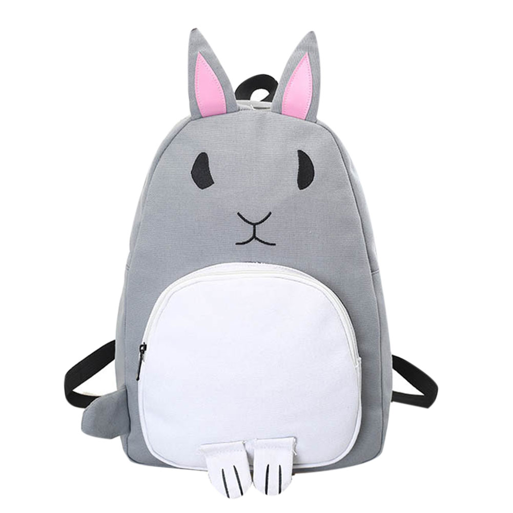 Lovely Cartoon Rabbit Backpack Women Canvas Backpack Large Capacity School Bags Rucksack Back Pack Bagpack Mochila feminina
