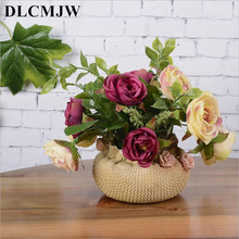 лучшая цена Artificial plant Bonsai fake Flower Plant Decoration bonsai desktop decoration Fake Flower Potted for wedding home decor bonsai