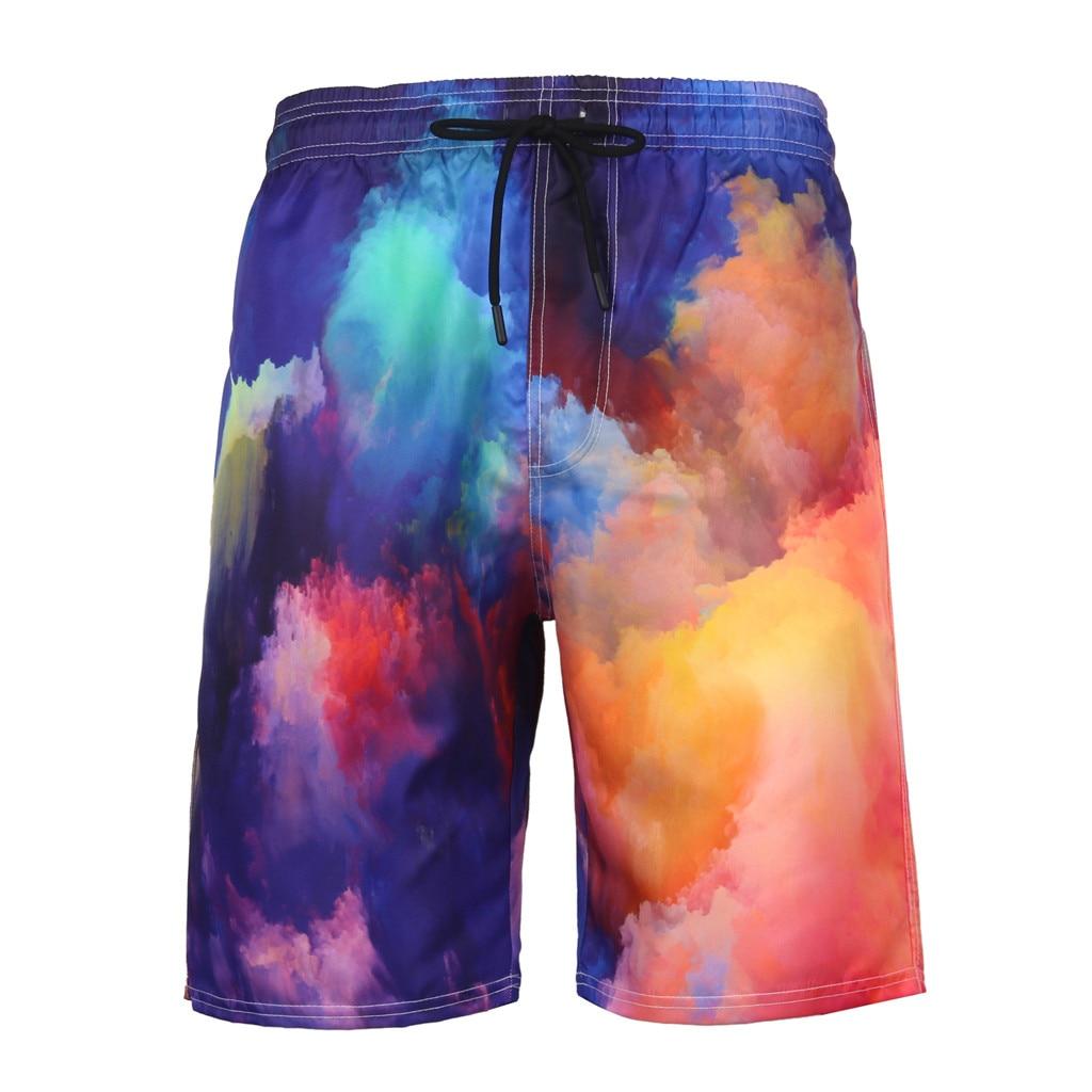 Swimming Trunks Shorts Beach-Pantsh Summer 3D Sport Entertainment Printed Recreational