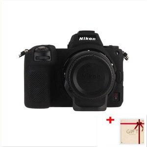 Image 1 - Высококачественный мягкий силиконовый чехол Защитный чехол для корпуса защитная рамка для Nikon Z7 Z6 аксессуары для камеры с ручкой для очистки