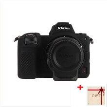 Hoge kwaliteit Zachte Siliconen Case Body Beschermhoes Protector Frame Skin voor Nikon Z7 Z6 Camera accessoires met Schoon pen