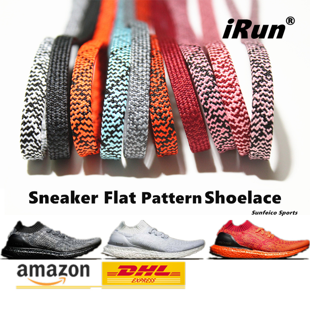 e0ba42e4fc2b3e Amazing Flat Pattern Shoelaces Replacement for Hi-Tops   Lo-Tops Sneakers  Boot - All Size - DHL FREE SHIPPING -5 Existing Colors
