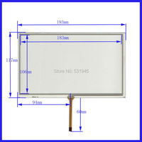 ZhiYuSun HLD TP 2155 Touch Screen 193mm*117mm 8 inch glass for industry applications 193*117 for GPS Car 4lines change 8lines