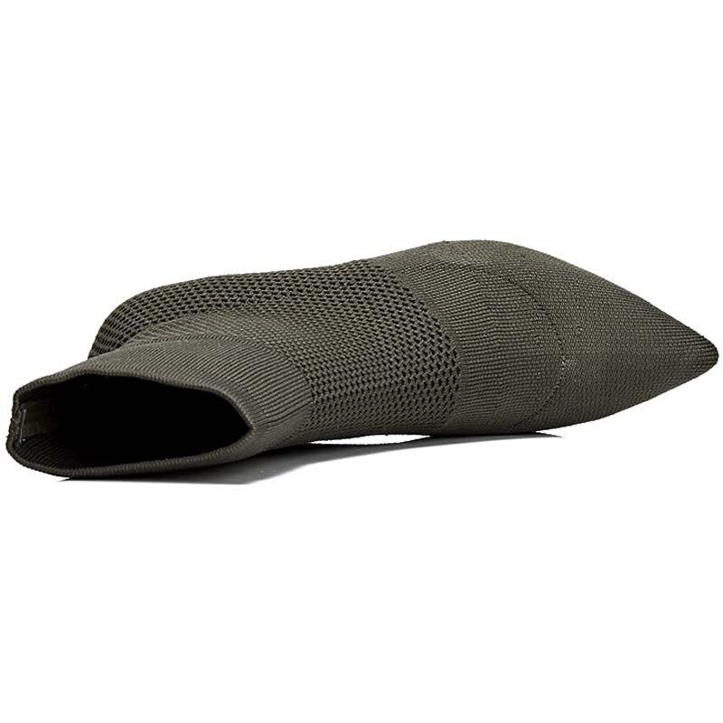 Cm Femmes forme Chaussures Épais Black 8 Femme NoirY0127845q Cheville Bottes Botas Automne green Plate Moto Confortables Talons Hauts Gilola BxohQrdCts