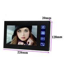 2.4G 7″ TFT LCD Monitor Wireless Video Intercom Doorbell Home Security Camera Monitor Night-Vision Handsfree Doorphone 806MJW12