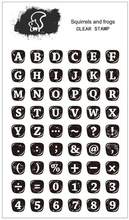 KLJUYP Keyboard letters Clear Stamps Scrapbook Paper Craft Clear stamp scrapbooking(China)