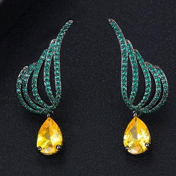 Nuevos pendientes de Stud Deaign joyería hecha a mano atractiva brillante completo AAA cristal austriaco Original marca boucle doreille femme 2019