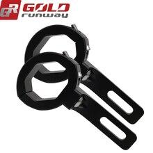GOLDRUNWAY Motorcycle Headlight mount Bracket Head light lamp holder Adjustable 36-49MM 1.41″-1.9″  Fork Mount Clamp