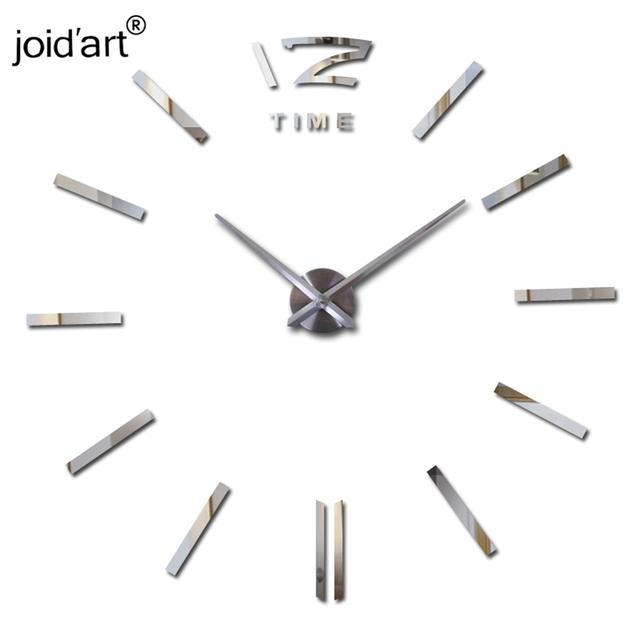 2017 hot sale wall clock large decorative  wall clocks home decor diy clocks living room reloj mural wall sticker