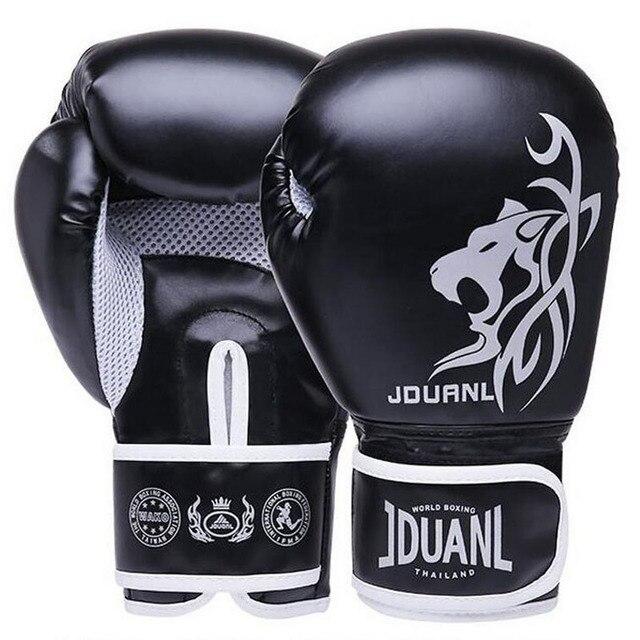 10 oz PU Muay Thai Boxing Gloves MMA Sanda Martial Kungfu 2017 New Women Men Fighting Sandbag Training Mitts luvas boxeo Guantes
