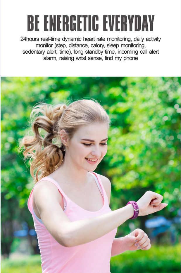 2018 חכם שלב מונה פעילות צג גשש כושר צמיד להקת שעון מעורר רטט צמיד עבור iphone טלפון אנדרואיד