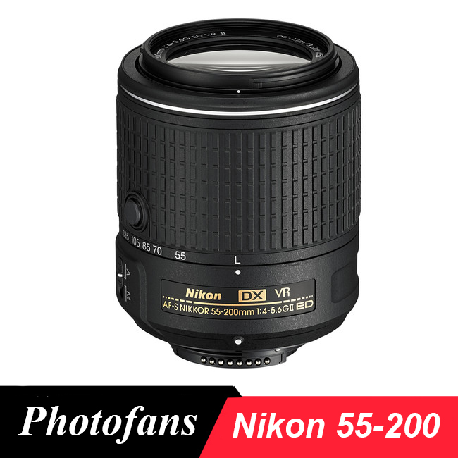 Nikon 55-200 Lens  Nikkor AF-S DX 55-200mm f/4-5.6G ED VR II  lenses for D3200 D3300 D3400 D5200 D5300 D5500 D5600 D7100 D7200 new nikon d5500 digital slr camera body with nikon af s dx 18 55mm f 3 5 5 6g vr ii lens