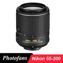 Nikon 55-200 Объектив Nikkor AF-S DX 55-200 мм f/4-5.6 Г ED VR II линзы для D3200 D5200 D5300 D3300 D3400 D5500 D5600 D7100 D7200