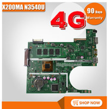 Für ASUS K200MA F200MA X200MA motherboard X200MA REV2.1 Mainboard 4G Speicher An Bord N3540CPU 100% getestet