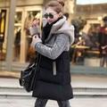 Jaqueta de Inverno 2017 das Mulheres Plus Size Cordeiro de Veludo Amassado Jaqueta de Algodão Com Capuz Mulheres Casaco de Inverno Acolchoado Jaqueta Manteau Femme C2640