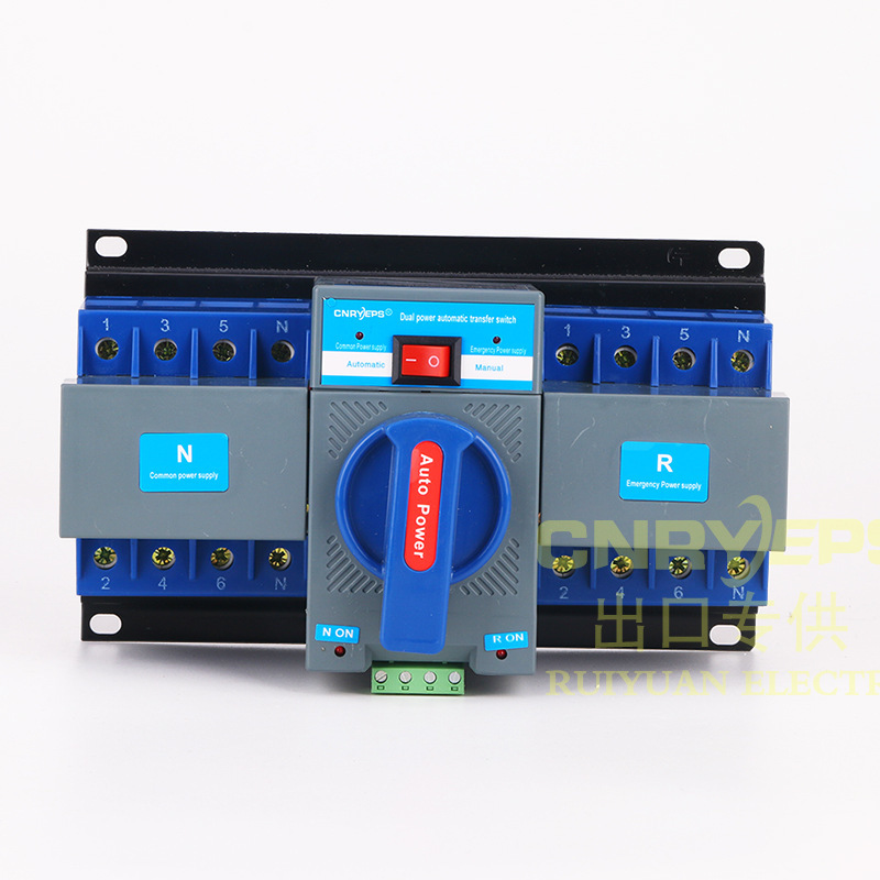 Both Power Supply Automatic manual transfer Change-over Switch 4P 380V Exit Mini Type circuit mcb breaker