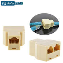 5pcs RICH TECH High quality Cable network RJ45 connector (8-core) 1-2 internet adapter network splitter converter