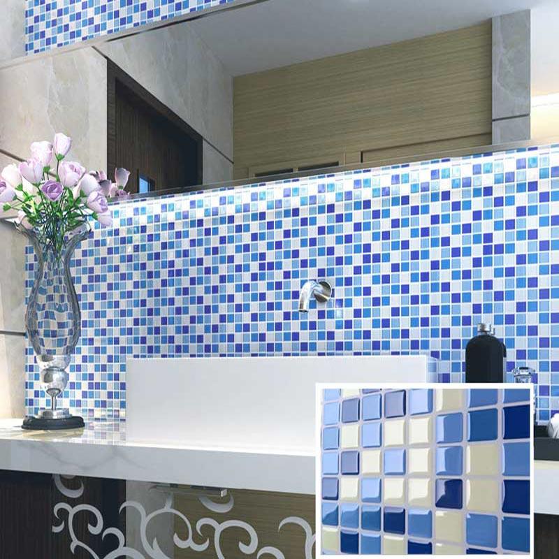 Efeito Gel 3D Decalque Adesivo para a Telha Backsplash telha de mosaico adesivo para cozinha/casa de banho (10)