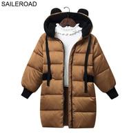 SAILEROAD 4 9Year Wear 30 Degree Children Kids Down Jacket Winter New Boys Girls Outerwear White Duck Down Coat Child Clothes