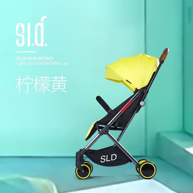 Bébé poussette peut s'asseoir inclinable léger pliant ultra léger portable compact bébé poussette nouveau-né poussette