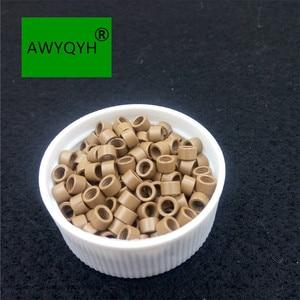 Image 3 - 10000 sztuk 4mm 4.0mm Aluminium do przedłużania włosów mikro pierścienie mikrolinki koraliki linki ze śrubami 1 # czarny