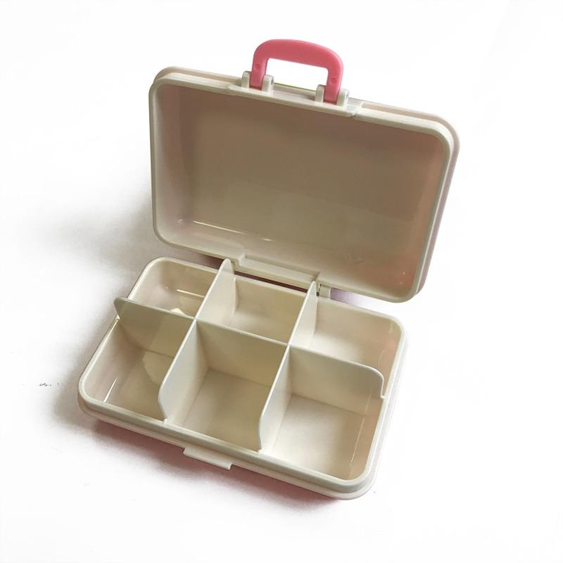 Pílula Cases e Divisores portátil alta qualidade mini caso Color : Blue/green/pink/rose