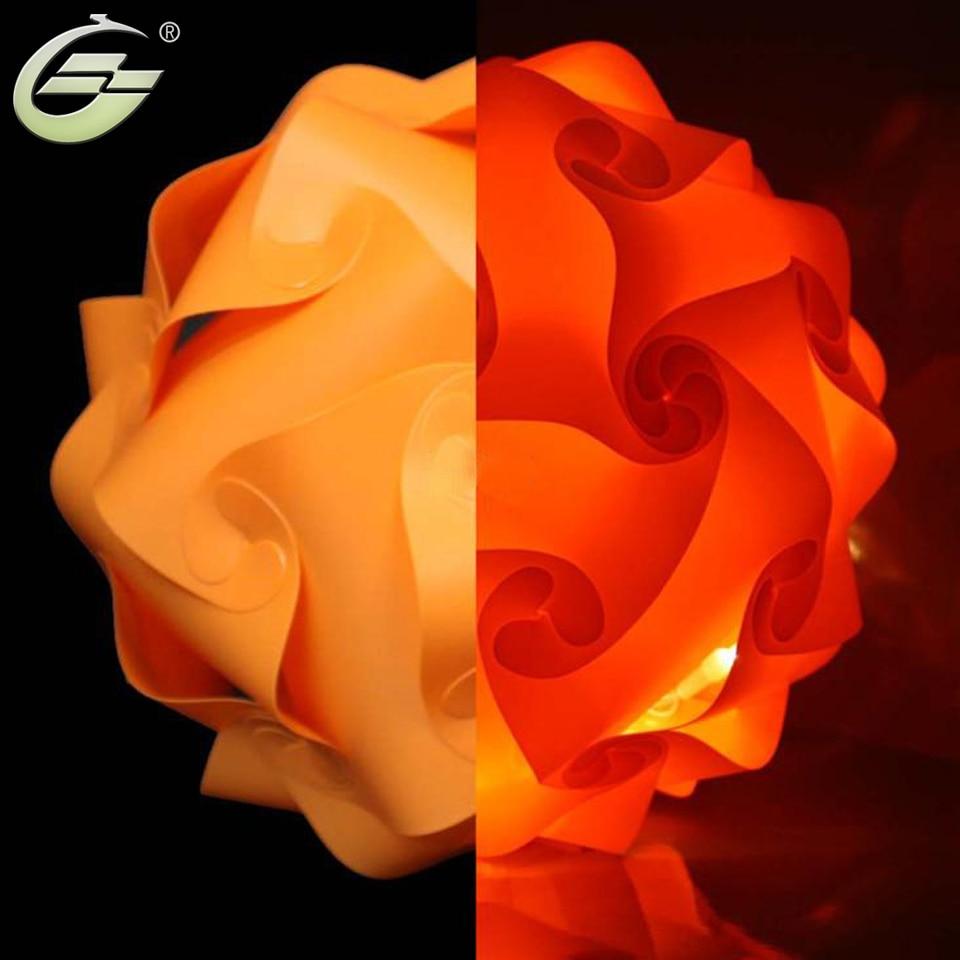 New Fashion Iq Jigsaw Puzzle Lamp Light Orange Color