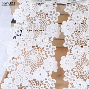 Кружевная ткань в африканском стиле, 1 ярд, Водорастворимая Вышивка молочного шелка, широкий кружевной декор, 2019