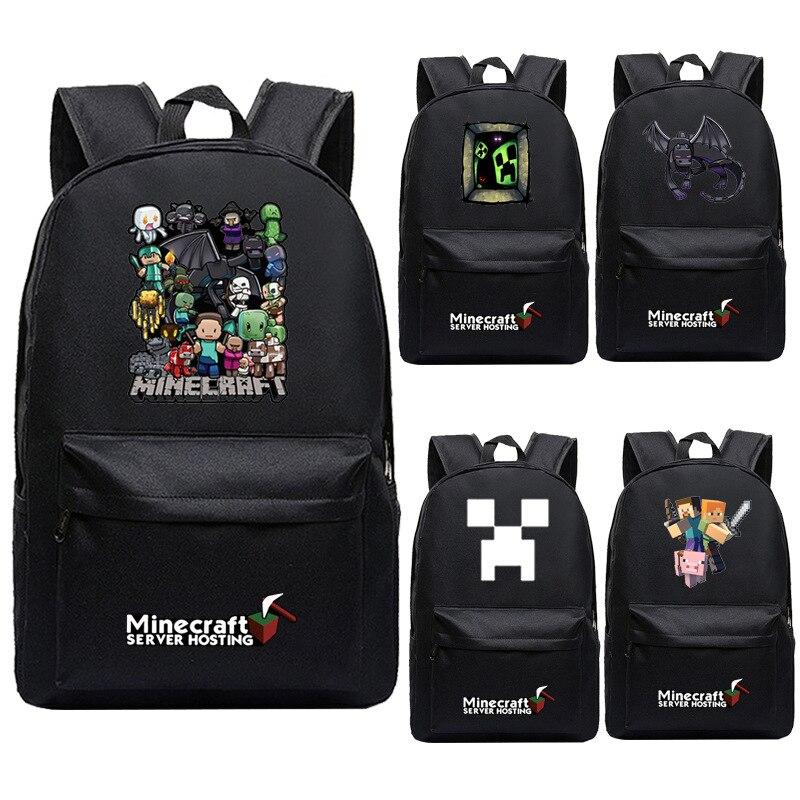 38b62101431 Kopen Goedkoop Minecraft rugzak student laptop schooltassen jongens meisjes  grote capaciteit boek satchel rugzak Steve Prijs.