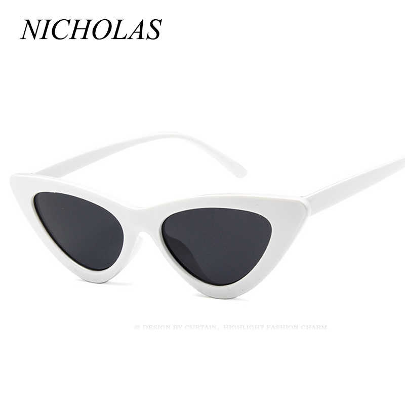 19867f285 ... NICHOLAS Retro Cat Eye Sunglasses Women Small Frame Triangle Sun  glasses Women Eyewear Oculos De Sol