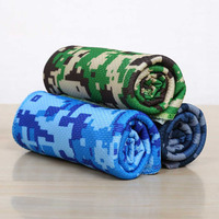 88*33cm Ice Towel Utility Enduring Instant Cooling Towel Heat Relief Reusable Chill Cool Cold Towel 3 Camouflage Colors