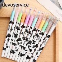 12Pcs Set Milk Colorful Gel Pens Set Kawaii School Supplies Office Stationary Photo Album Kawaii Pens