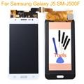 Blanco para samsung galaxy j5 sm-j500f pantalla lcd táctil digitalizador asamblea reemplazos de piezas envío libre + número de seguimiento