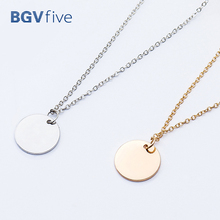 Minimalist Fine Thin Link Vhain Small Wafer Necklaces Pendants Choker Necklace