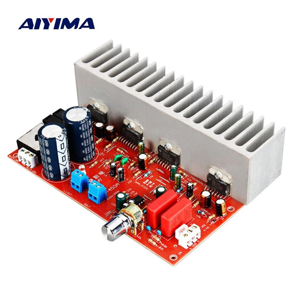 Aiyima TDA7294 Audio Power Amplifier Board 100W*2 HIFI 2.0 Stereo Amplifier High Power DIY 10 12 Inch Speaker AC24 28V