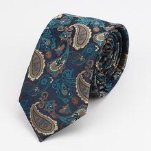 men tie 7cm paisley ties for men  gravata necktie vintage accessories