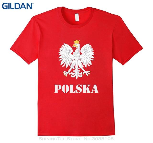 Fabuleux GILDAN 2017 Vente Chaude Super Mode Polska Pologne Drapeau T shirt  TZ29