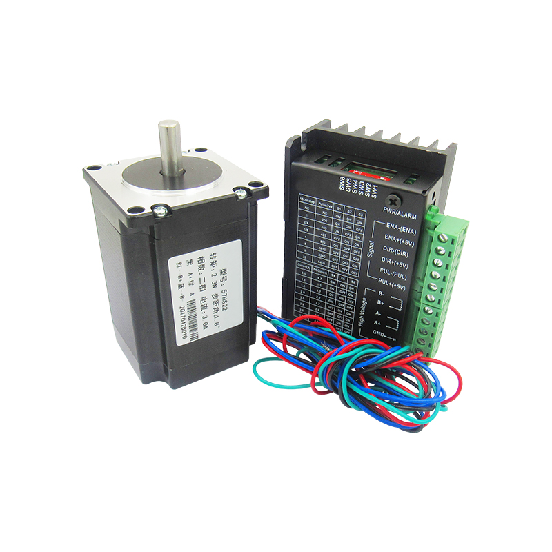 57 stepper motor set 2.3N.M, long torque, 81MM+TB6600 drive, 4.0A motor toothed belt drive motorized stepper motor precision guide rail manufacturer guideway