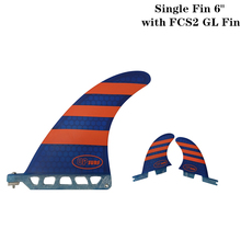 Surf longboard fin 6 inch Surf 6 inch Fin with FCS2 GL Fibreglass in Surfing single Fin with FCS2 GL Red/Blue color lacywear gl 6 znk