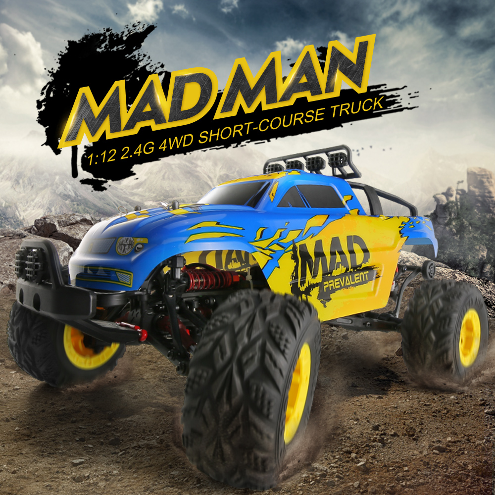 Free Shipping 2.4G 4WD Short-Course Truck 19G High Speed Servo 100M RC Distance Powerful Engine High Performance Kids Gift