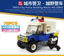 78pcs SUV Enlighten City Series Police Swat Car Building Block sets Kids Educational Bricks Minifigure Toys