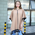 2017 New Brand Women's Winter Poncho Vintage Blanket Womens Lady Knit Shawl Cape Cashmere Scarf Poncho With Tassels 572