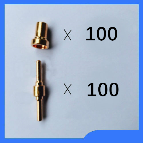 FREE SHIPPING PT31 LG40 CUT50 LGK40 Air Plasma Cutting Accessories Consumable Nozzle Electrode 200Pcs