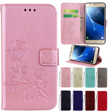 цены Flip Leather Phone Case For Samsung J6 2018 J600 j600F Luxury Flower Wallet Bag Cover Cases For Samsung Galaxy j6 2018 5.6'