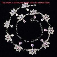 Girls Wholesale Stones Belt Women Dance Jewellery Flowers Stones Belly Dance Clothes Fashion Belly Dance Hip