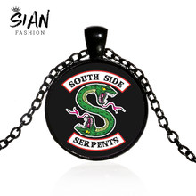 SIAN Top Quality Riverdale South Side Serpents Necklace Cosplay Jughead Jones Punk Chain Long Necklace Popular TV Series Jewelry(China)