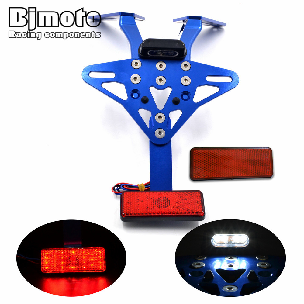 Motorcycle Adjustable Multi-angle Fender Eliminator License Plate Bracket Holder Tidy Tail light For Yamaha T MAX 530 2013-2015 for suzuki gsxr1000 2007 2008 motorcycle licence plate bracket tail tidy rear fender eliminator billet aluminum